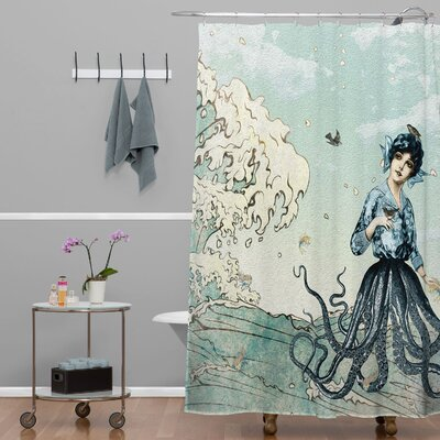 Ketner Sea Fairy Extra Long Shower Curtain