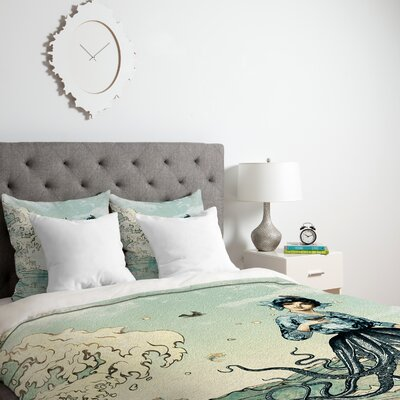 Sharber Sea Fairy Duvet Cover Size: Twin, Fabric: Lightweight