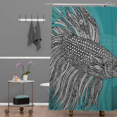 Beta Fish Extra Long Shower Curtain