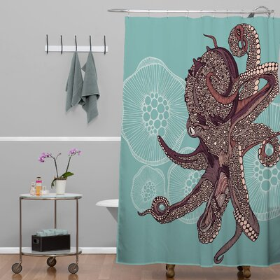 Octopus Bloom Extra Long Shower Curtain