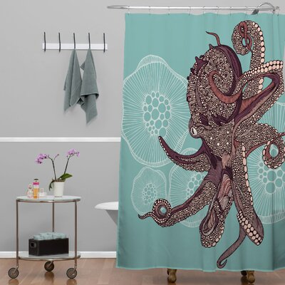 Salls Bloom Octopus Shower Curtain