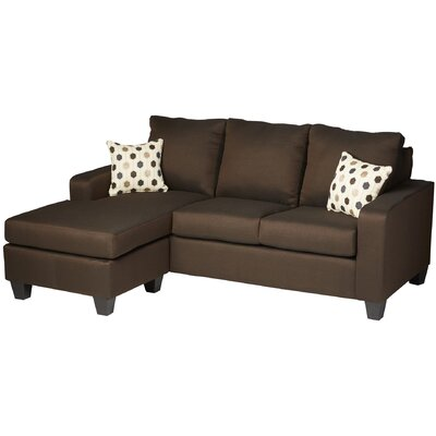Morpheus Reversible Sectional Upholstery: Stoked Chocolate / Synchronicity Chocolate