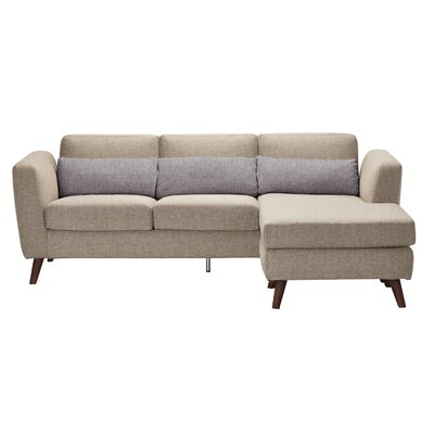 Reversible Chaise Sectional Upholstery: Cappuccino