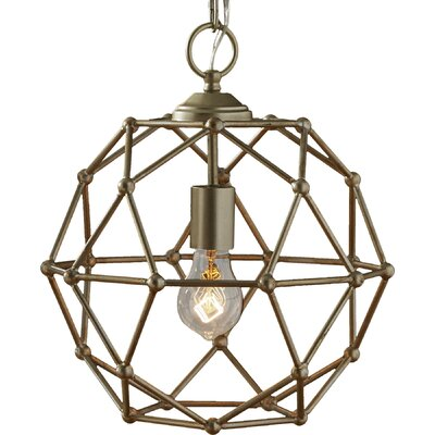 Cavanagh 1-Light Globe Pendant Finish: Antique Silver Leaf