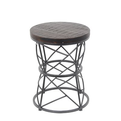 Arlene Round End Table Color: Dark Brown