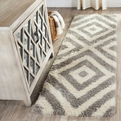 Slawson Power Loomed Beige/Gray Area Rug Rug Size: Rectangle 67 x 92
