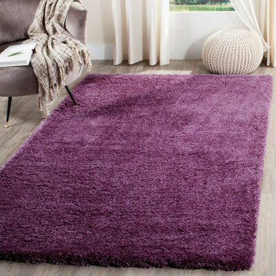 Slayton Purple Area Rug Rug Size: Rectangle 3 X 5