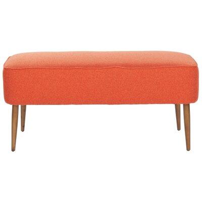 Zelia Upholstered Bedroom Bench Color: Orange MCRR2042 25593644