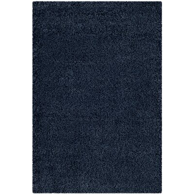 Brickner Blue Area Rug Rug Size: Rectangle 9-6 X 13