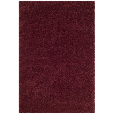 Brickner Red Area Rug COLOR: Navy, Rug Size: Round 67