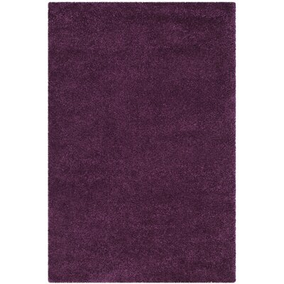 Brickner Purple Area Rug Rug Size: Rectangle 4 x 6