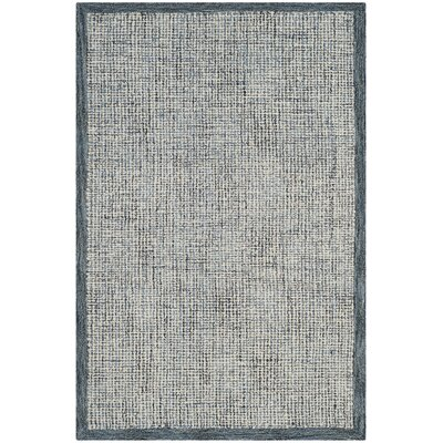 Bloom Hand-Tufted Blue/Beige Area Rug Rug Size: 4 x 6