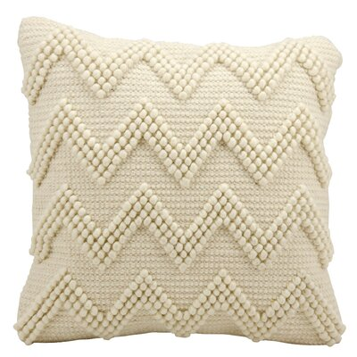 Breuer Throw Pillow Color: Ivory, Size: 20 H x 20 W