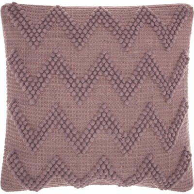 Breuer Throw Pillow Color: Lavender, Size: 20 H x 20 W