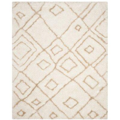Briganti Hand-Tufted Ivory/Beige Area Rug Rug Size: 8 x 10