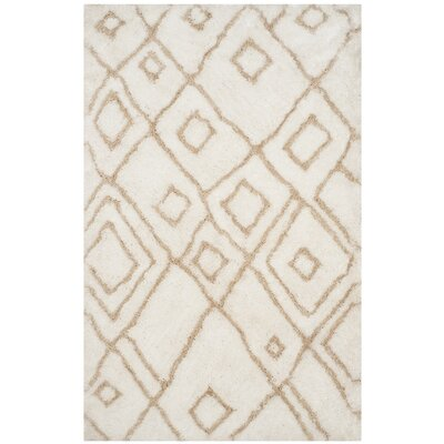Briganti Hand-Tufted Ivory/Beige Area Rug Rug Size: Rectangle 4 x 6