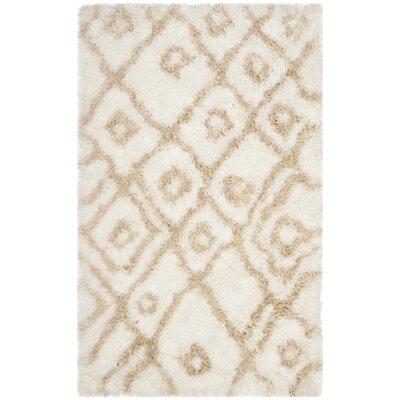 Briganti Hand-Tufted Ivory/Beige Area Rug Rug Size: Rectangle 3 x 5
