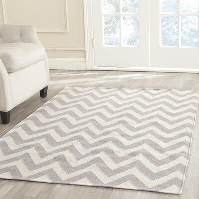 Vanderhoof Gray/Ivory Area Rug Rug Size: Rectangle 5 x 8