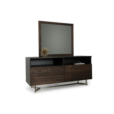 Merkley Rectangular 4 Dresser with Mirror