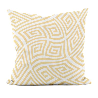 Adorno Geometric Foam Throw Pillow Size: 16 H x 16 W, Color: Yellow Haze