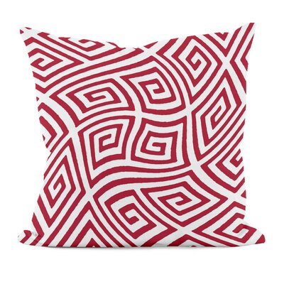 Adorno Geometric Foam Throw Pillow Size: 16 H x 16 W, Color: Red