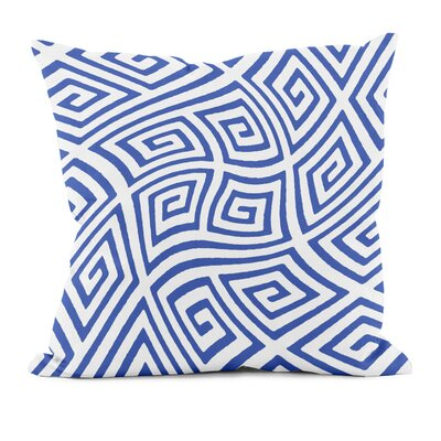 Adorno Throw Pillow Size: 18 H x 18 W, Color: Dazzling Blue