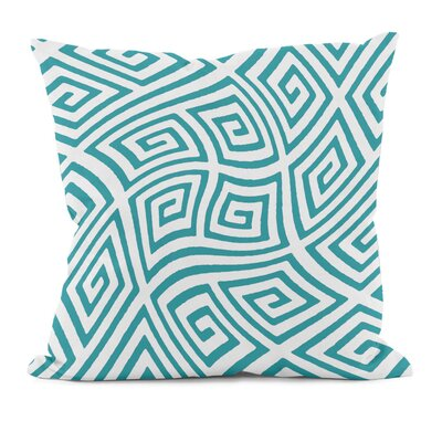 Adorno Throw Pillow Size: 18 H x 18 W, Color: Lake Blue