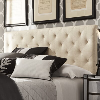 Brendle Upholstered Panel Headboard Upholstery: Beige, Size: King