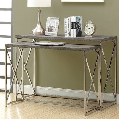 Balog 2 Piece Console Table Set Finish: Dark Taupe