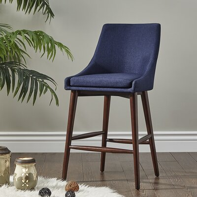 Blaisdell 24 Bar Stool Upholstery: Twilight Blue