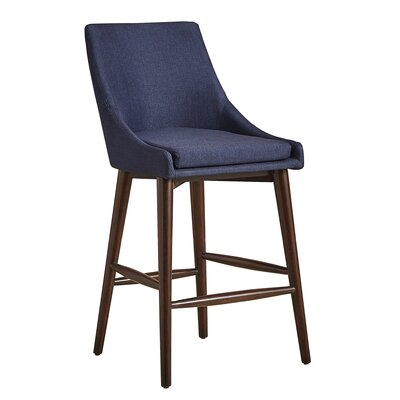 Blaisdell Counter Height Arm Chair Upholstery: Twilight Blue