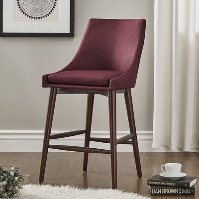 Blaisdell 24 Bar Stool Upholstery: Tawny Port