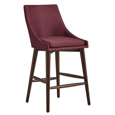 Blaisdell Counter Height Arm Chair Upholstery: Tawny Port