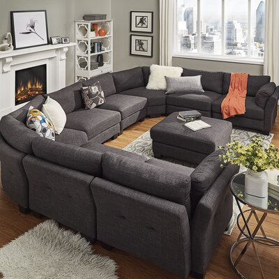 Alkmene Modular Sectional Upholstery: Dark Gray
