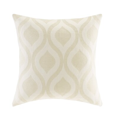 Olsen Chenille Throw Pillow Color: Beige