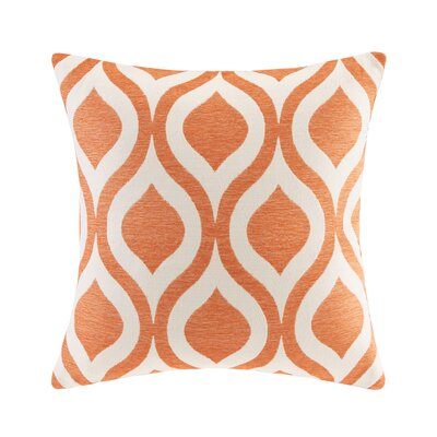Olsen Chenille Throw Pillow Color: Orange