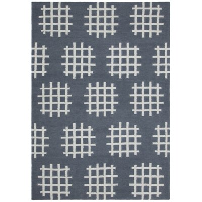 Mittler Charcoal/White Abstract Rug Rug Size: 7 x 10