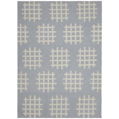 Mittler Grey/White Abstract Rug Rug Size: 7 x 10
