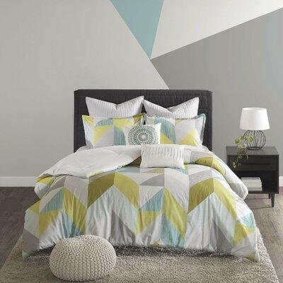 Horta 7 Piece Cotton Comforter Set Size: Full/Queen, Color: Aqua