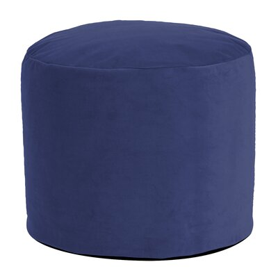 Enosburgh Tall Pouf Bella Ottoman Color: Royal