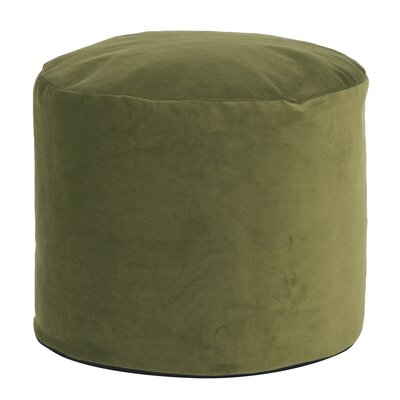 Enosburgh Tall Pouf Bella Ottoman Color: Moss