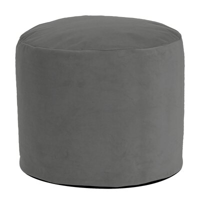 Butkovich Tall Pouf Bella Ottoman Color: Pewter