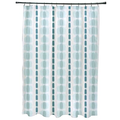 Leal Watercolor Stripe Shower Curtain Color: Teal