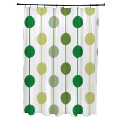 Leal Brady Beads Shower Curtain Color: Green