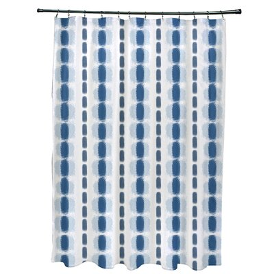 Leal Watercolor Stripe Shower Curtain Color: Blue