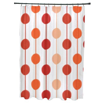 Leal Brady Beads Shower Curtain Color: Orange