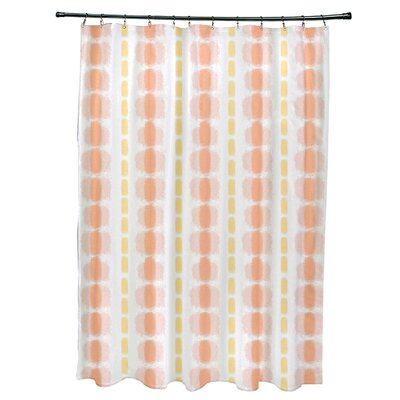 Leal Watercolor Stripe Shower Curtain Color: Yellow