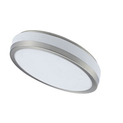 Cameley 1-Light Flush Mount Finish: Satin Chrome, Size: 4.5 H x 16 W x 16 D