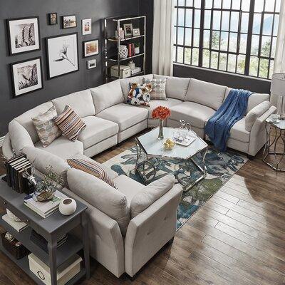 Alkmene Modular Sectional Upholstery: White