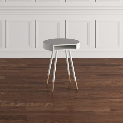 Camire End Table Finish: White